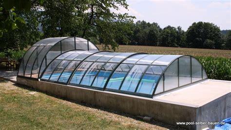 pooldach selber bauen pool 252 berdachung f 252 r den pool planen pool selber bauen de
