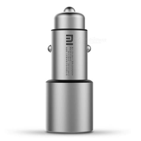 Xiaomi Metal Car Charger Silver xiaomi metal qc3 0 dual usb car charger silver free shipping dealextreme