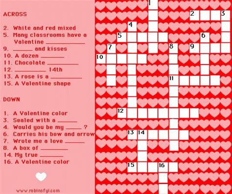 printable valentine word search valentines day