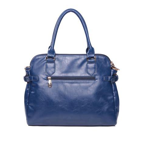 Tote Bag Pu Leather Import pu leather tote bag blue