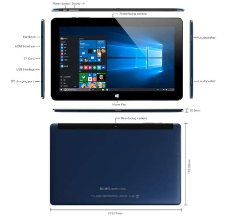 Tablet Os Windows cube iwork11 ultrabook tablet pc dual os windows 10 android 4gb 64gb 10 6 inch blue