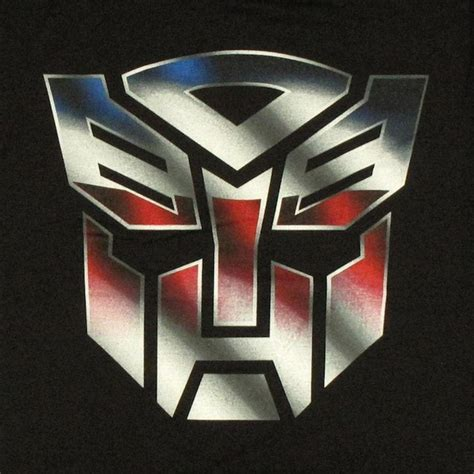 Tshirt Tranformers Logo transformers autobot logo color t shirt sheer