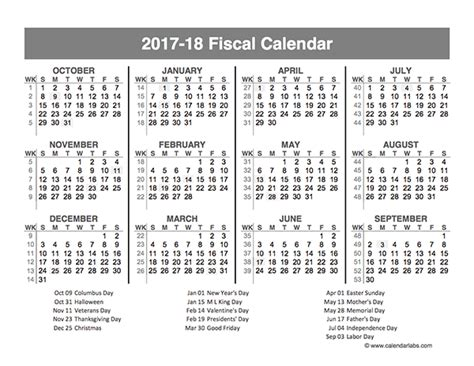 Calendar Quarters 2017 Fiscal Year Quarters Template Free Printable Templates