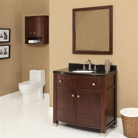 Bathroom Design For Small Bathroom by Decolav Adrianna 36 Inch Dark Walnut Bathroom Vanity