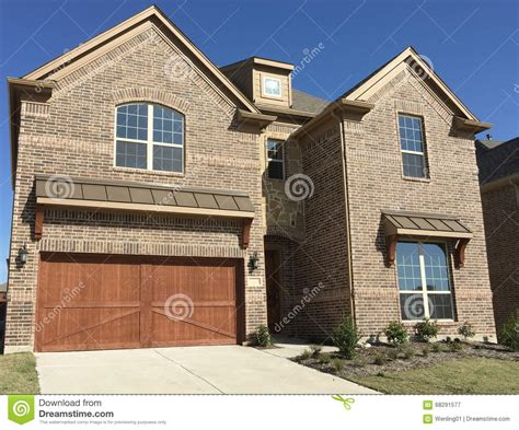 nice two story houses nice two story new house stock photo image 68291577