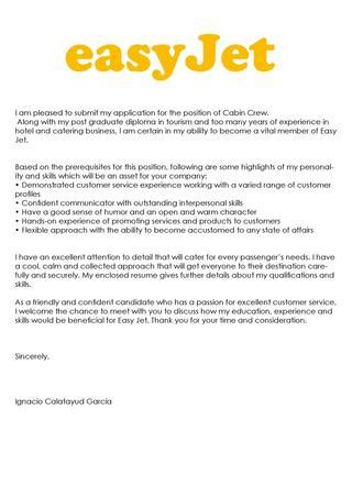 easyjet cabin crew application easyjet cover letter ignacio by ignacio calatayud issuu