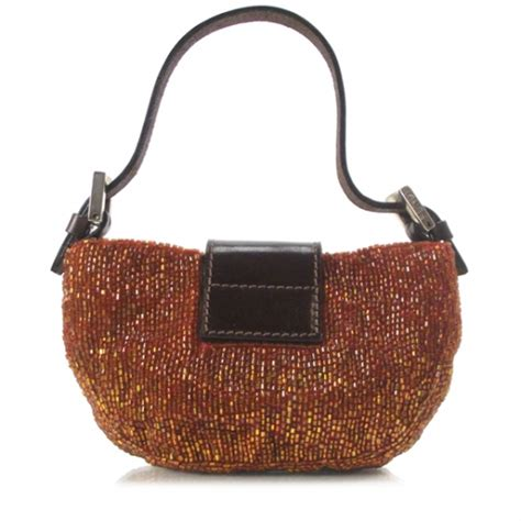The Fendi Evening Bag by Fendi Sequin Mini Baguette Beaded Evening Bag 13348