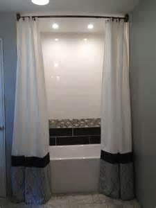 duschvorhang decke floor to ceiling shower curtains bathrooms