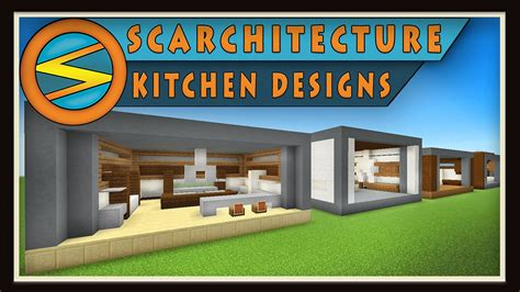 kitchen ideas minecraft 2018 minecraft five modern kitchen designs scarchitecture ep 1