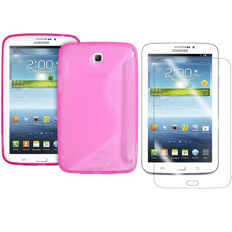 Tablet Samsung Galaxy Tab 3 7 Inci samsung galaxy tab 3 7 inch tpu rubber gel cover s line screen protector