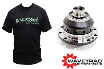 wavetrac limited slip differential k20 (gearspeed t shirt