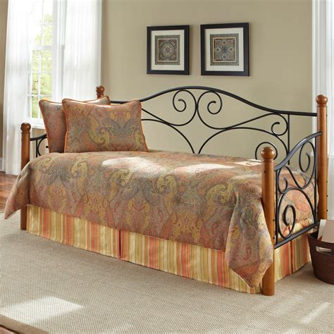 Wrought Iron Daybed Ennis Wood And Iron Daybed
