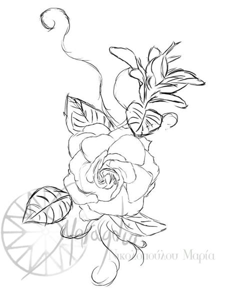 gardenia flower tattoo gardenia by smaragdia deviantart on deviantart