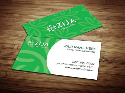 international business cards templates zija international business cards 4