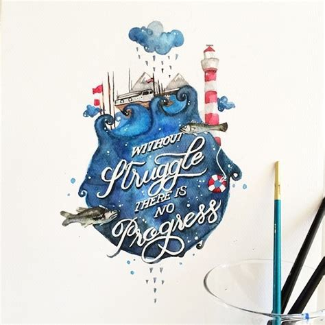 beautiful watercolor paintings paired with uplifting lettered quotes designtaxi