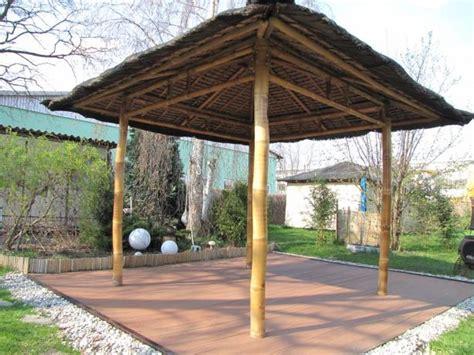 pavillon bambus bambus pavillon offen f 252 r garten terrasse tahas 174
