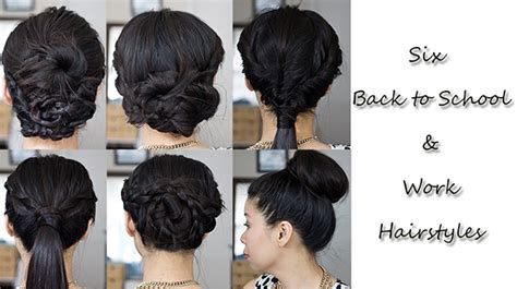 these are some easy hairstyles for school or six simple hairstyles for work or back to school labellemel