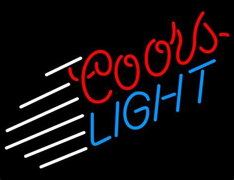 coors light neon sign coors light lines neon sign neon