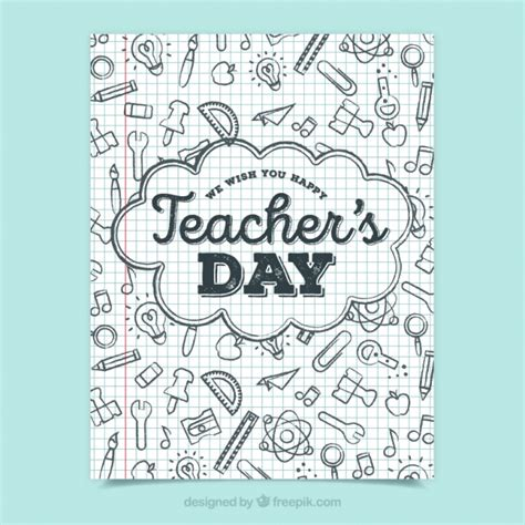 make a doodle free s day greeting with doodles vector free
