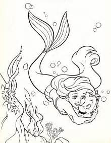 walt disney coloring pages princess ariel amp flounder walt disney characters photo 34325151