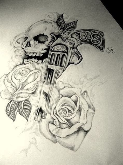 skull rose gun tattoo 17 best ideas about tattoos for on