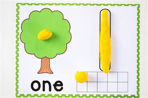 Playdough Mat Printables by Free Printable Tree Play Dough Counting Mats 1 10