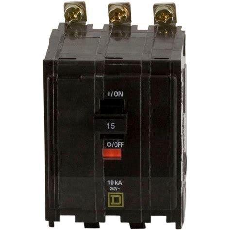 home depot pole ls square d qo 15 amp 3 pole bolt on circuit breaker qob315
