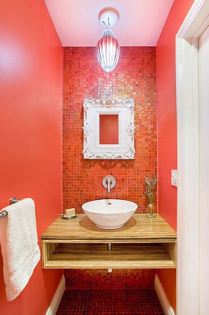 Bathroom Design San Francisco by Red Contemporary Powder Room San Francisco By Re
