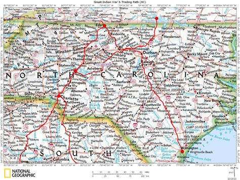 nc map historic roads trails paths migration routes virginia