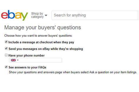 ebay telephone number a new way to give ebay buyers your telephone number tamebay