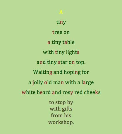 poem about a tiny christmas tree classroom ideas