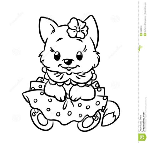 coloring pages of baby cats kitten coloring pages free large images