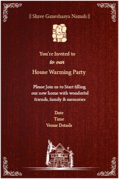 Invitation Card Template For Housewarming India by Housewarming Invitation Sles India Images Invitation