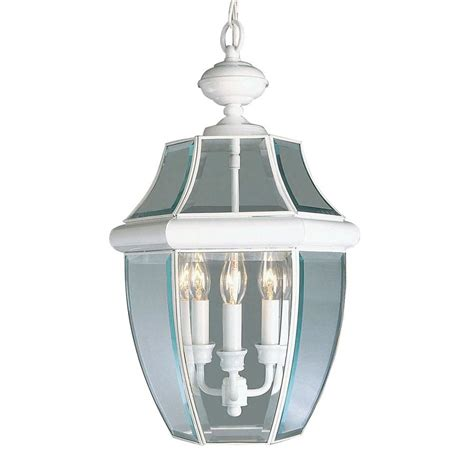 White Patio Lights Shop Livex Lighting Monterey 21 In White Outdoor Pendant Light At Lowes