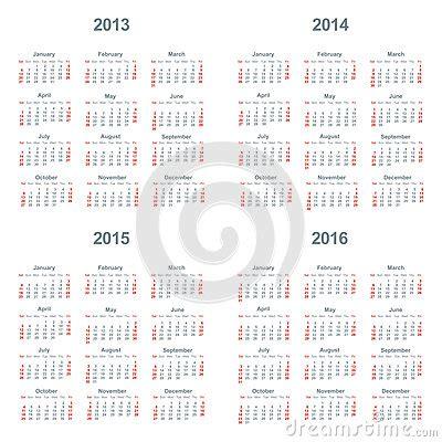 calendar 2013 2014 2015 2016