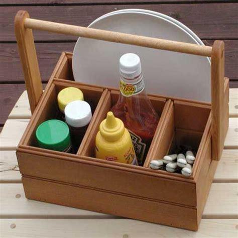 diy picnic caddies diynow table caddy utensil caddy
