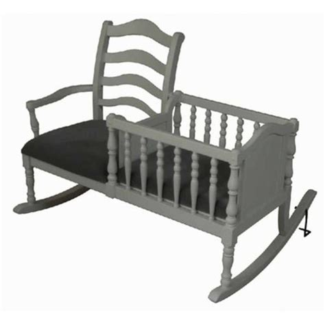 Rocking Chair With Cradle by Baby Rocking Chair Cradle Bassinet White Nursery Furniture Nanny Rocker Wood Bed Ebay