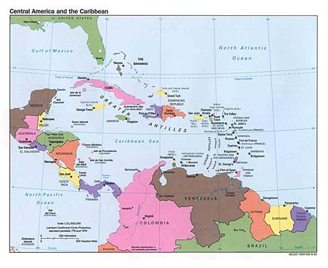 central america the caribbean map i am married to awesome april 2011
