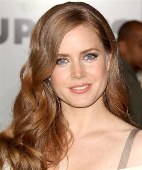 Amy Adams Long Wavy Formal Hairstyle   Medium Red