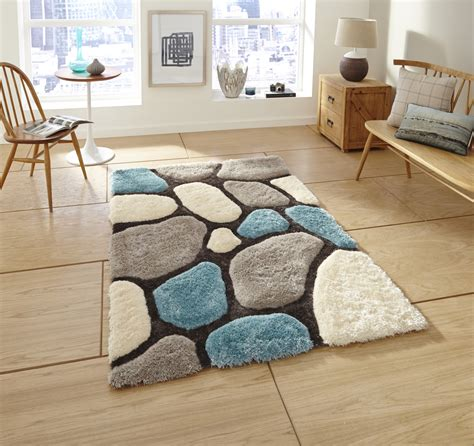 house rugs noble house hand tufted shaggy pile floor rug super soft pebble style home decor ebay