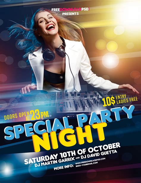 party flyer design templates free download www pixshark