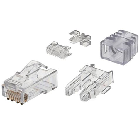 Modular Cat 6 panduit snagless cat6 modular 8p8c connector crawsover inc