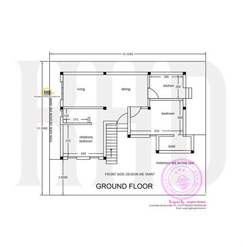 ground floor plan contemporary three storied residential building kerala
