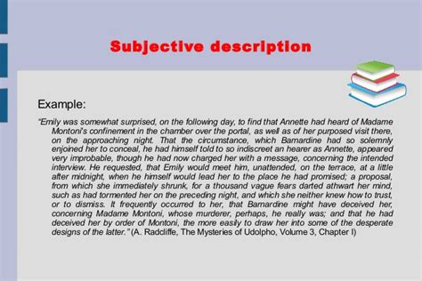 exle of a description template descriptive text structure and exles
