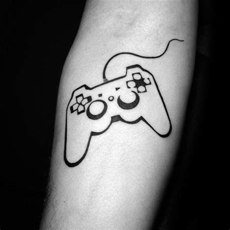 simple video game tattoo 50 playstation tattoo designs for men video game ink ideas