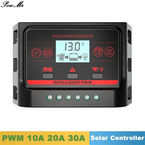 10a 12v 24v Solar Charge Controller With Lcd Display Au Diskon pwm solar charge controller 10a 20a 30a back light lcd