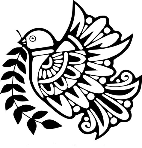 free holy spirit dove design coloring pages