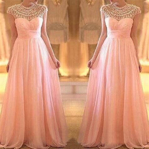 Modest Prom Dresses, Blush Pink Prom Dress, Long Prom Dresses, Cheap Prom Dresses, 2016 Prom