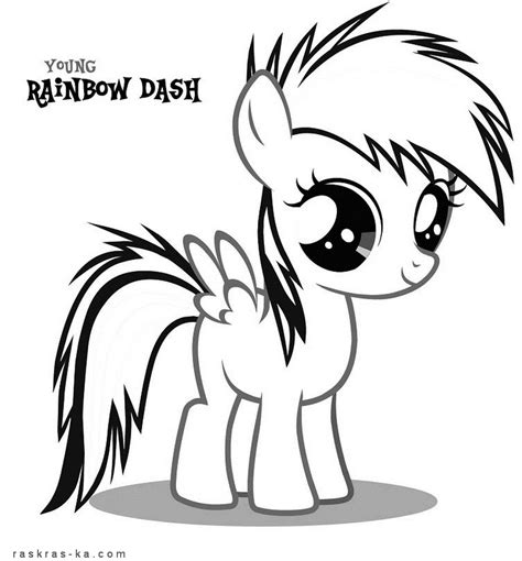 filly rainbow dash coloring page сoloring book my little pony rainbow dash