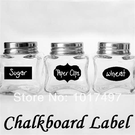 Sticker Dapur 6 Chalkboard Sticker Labels Vinyl Kitchen Pantry